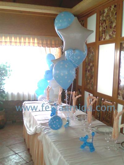 Decoracion con globos de helio para bautizo for Decoracion con globos para bautizo