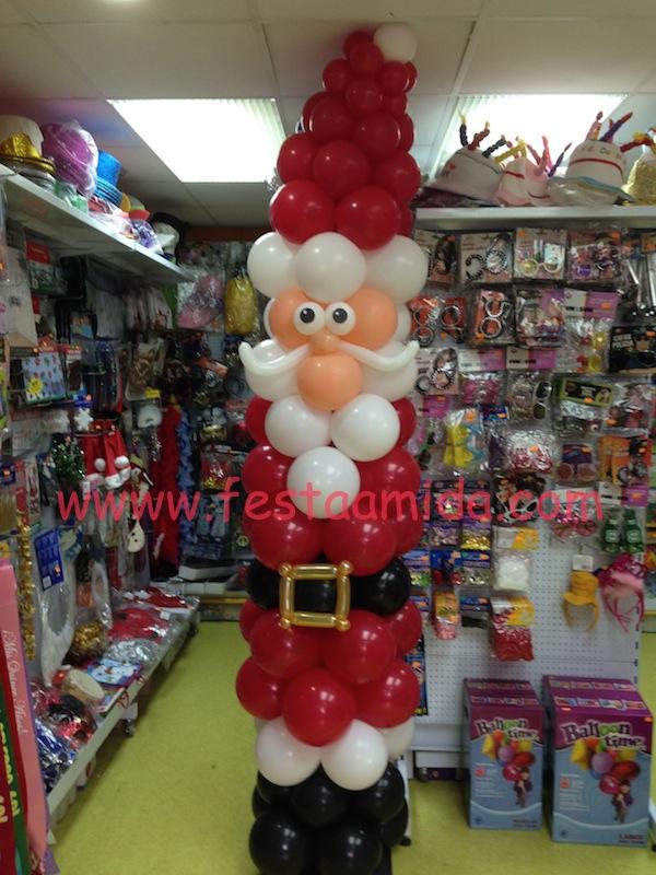 Decoraci n con globos para navidad y fin de a o - Papa noel decoracion navidena ...