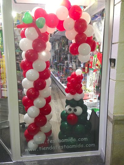 Decoracin con globos interesting decoracion con globos mensajes blancos flres with decoracin - Decoracion fiesta navidad ...